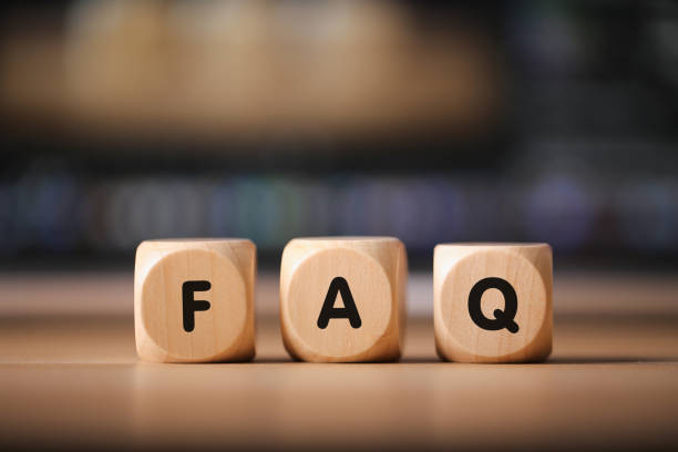 FAQ Wood Blocks stock photo