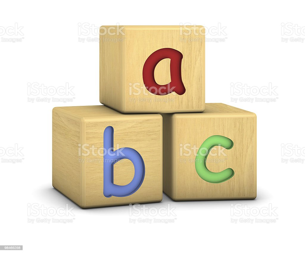 Wood blocks with abc letters royalty-free stock photo