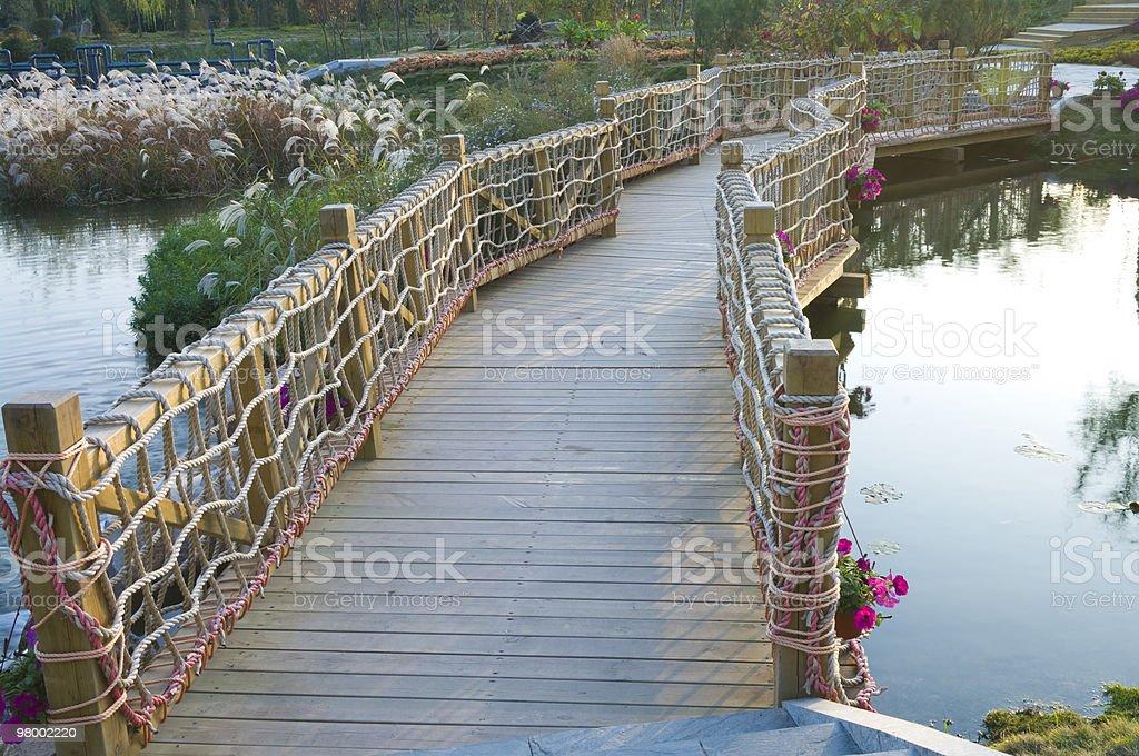 wood bridge royalty-free stock photo