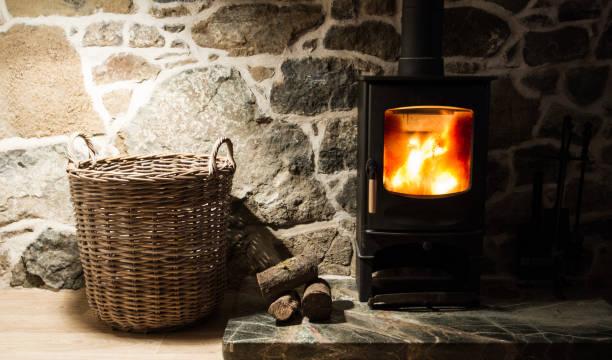 Wood Burner Fireplace Stock Photo Download Image Now Istock