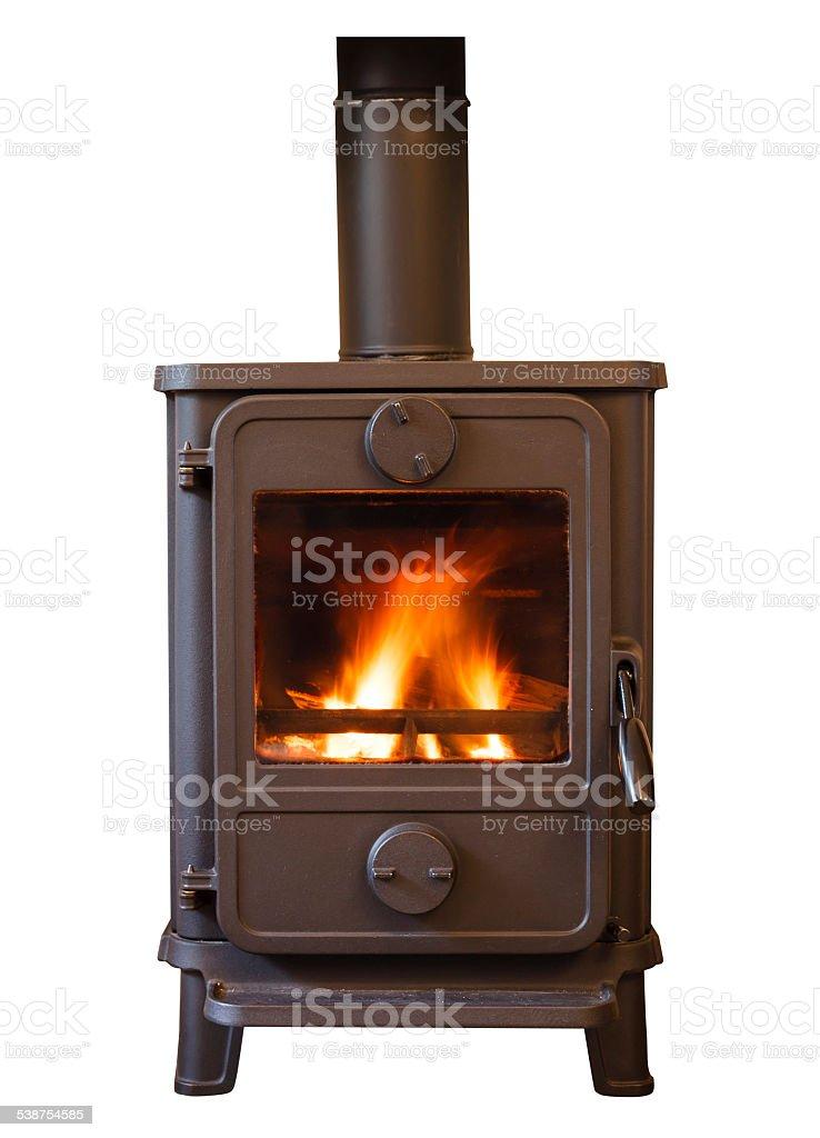 Wood burner stock photo