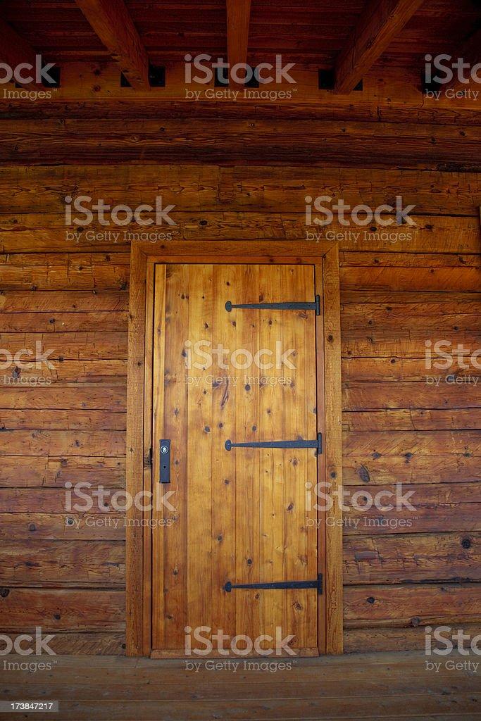 Wood cabin stock photo
