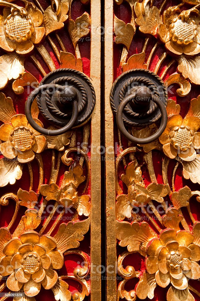 Wood Carving Door royalty-free stock photo