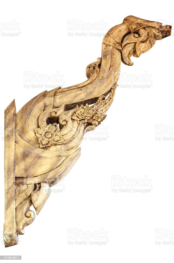 wood carving isolate royalty-free stock photo