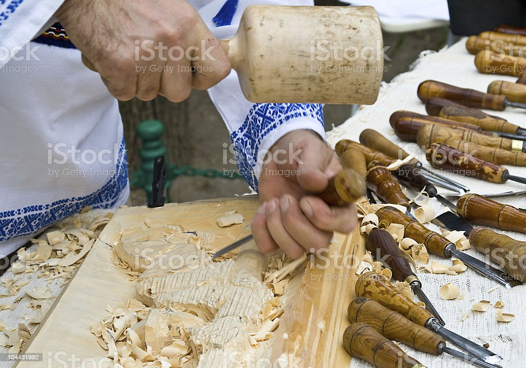 Wood Carving royalty-free stock photo