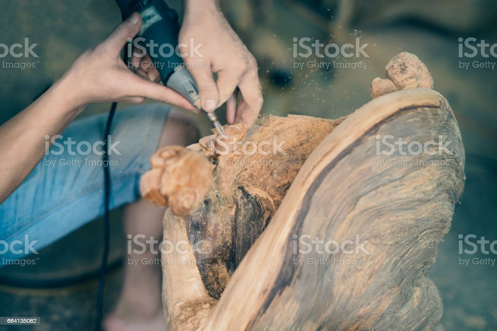 Wood carving foto stock royalty-free