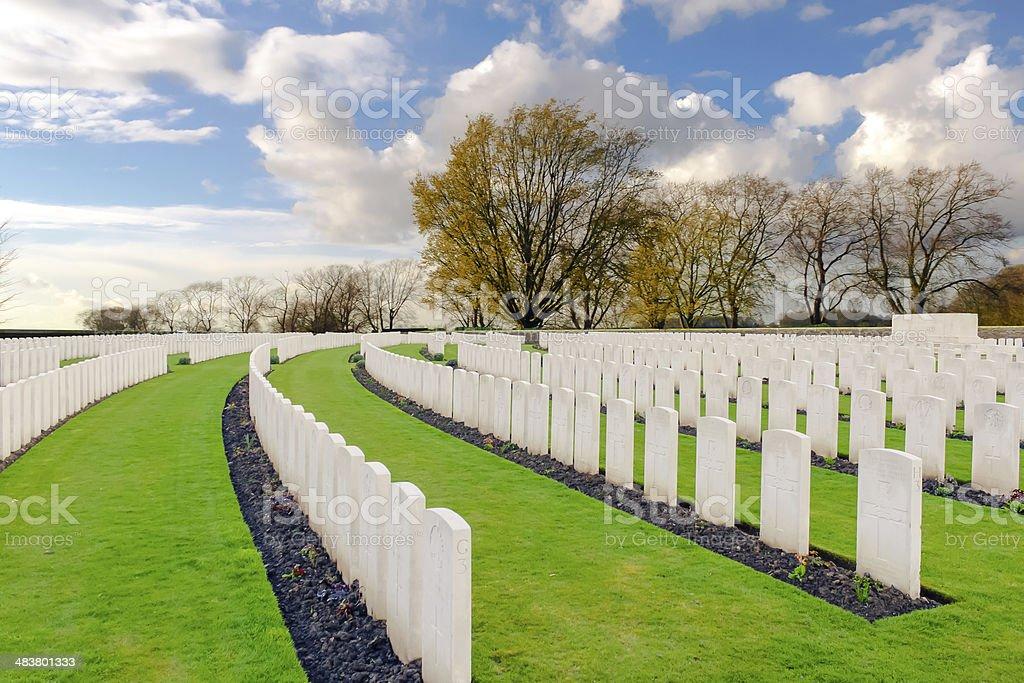Wood Cemetery great world war one flanders Belgium stock photo