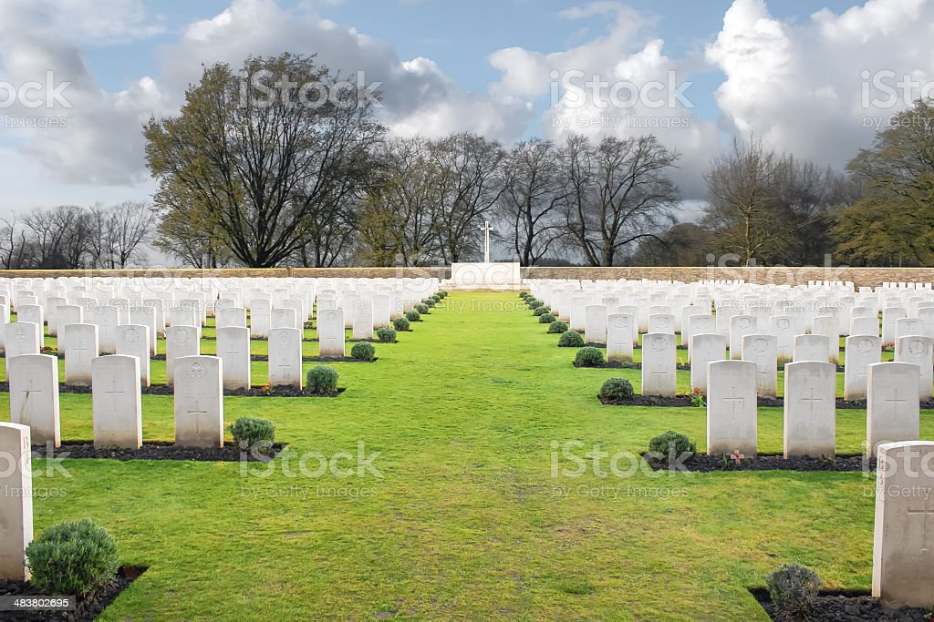 Wood Cemetery great world war one flanders Belgium stock photo