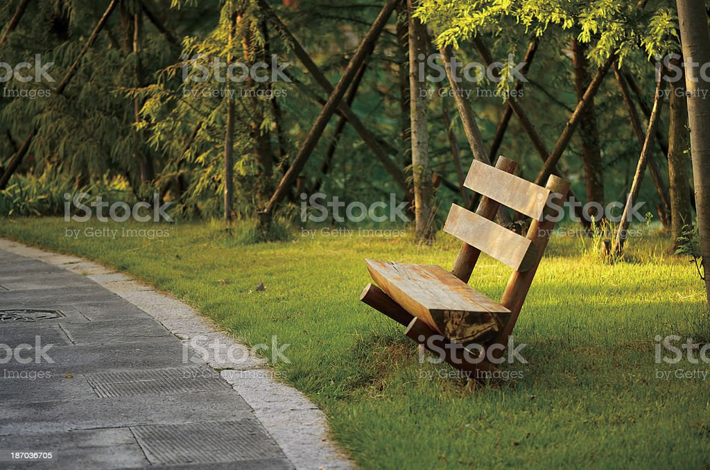 Wood chair royalty-free stock photo