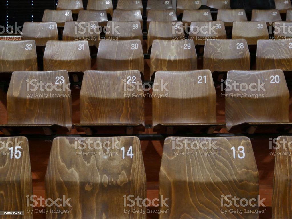 Wood Chair stock photo