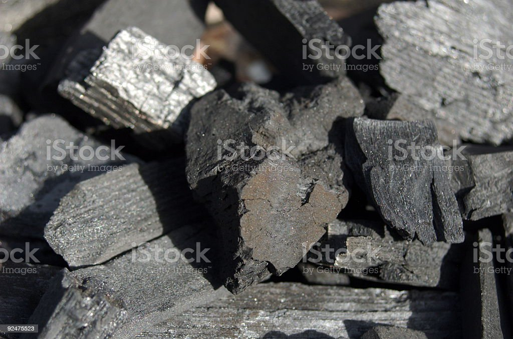 Wood Charcoal royalty-free stock photo