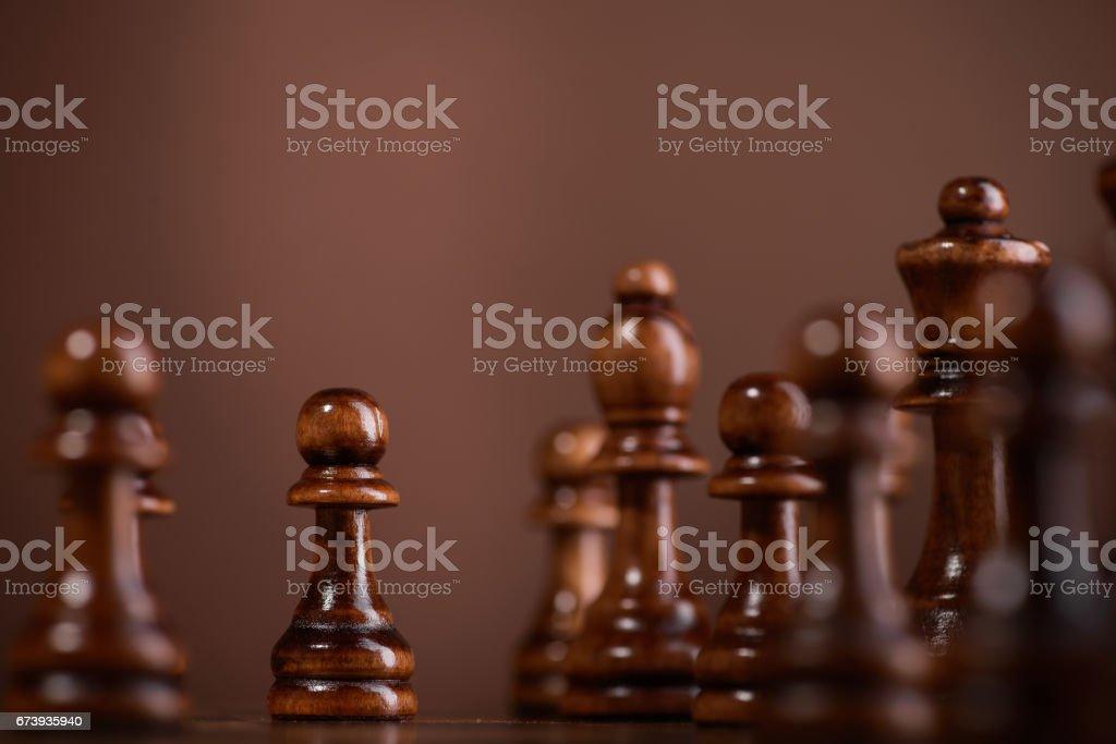 wood chess pieces photo libre de droits