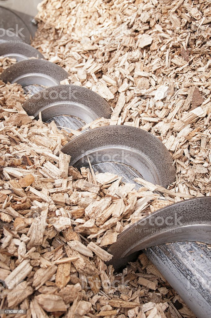 Wood Chip Hopper stock photo