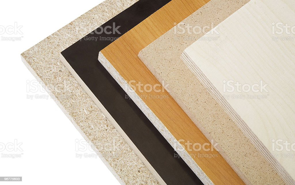 Wood chipboard and plywood. royalty-free stock photo