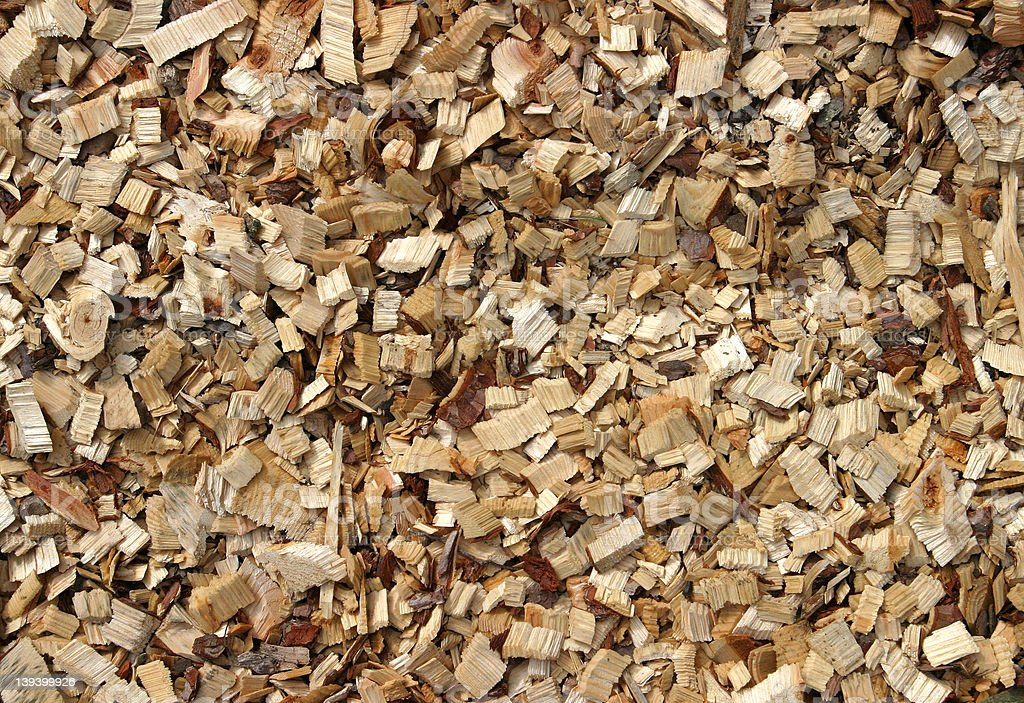 Wood Chippings royalty-free stock photo
