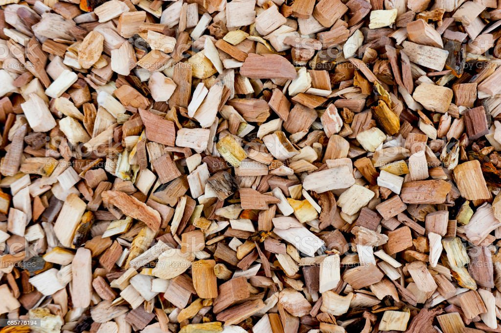 Wood chips for the apple tree. royalty-free stock photo