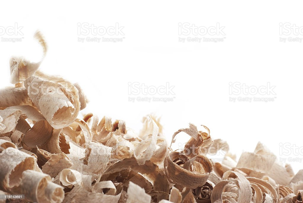 Wood chips. stock photo
