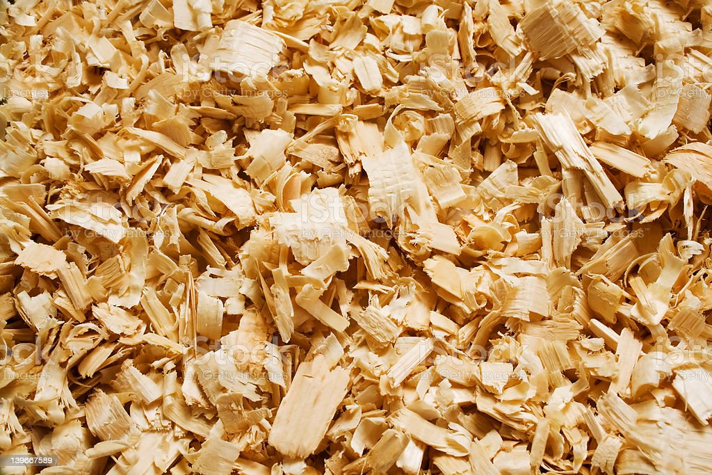 Wood chips stock photo