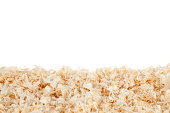 Wood chips isolated on pure white.See also: