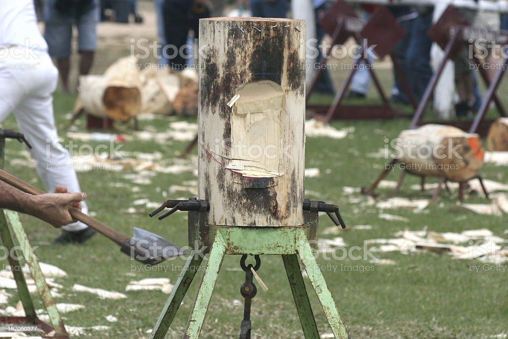 wood chopping royalty-free stock photo
