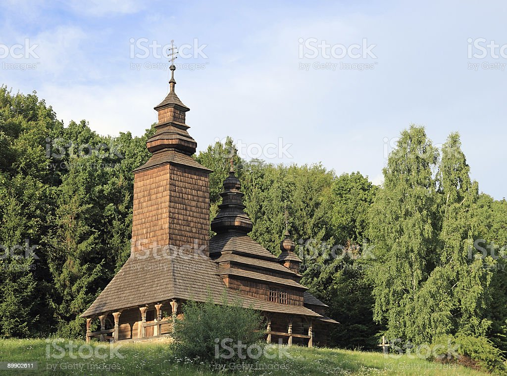 wood church royalty-free stock photo