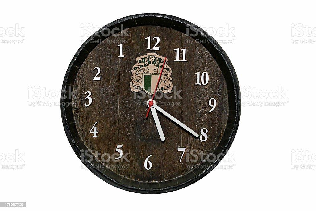 Wood Clock stock photo