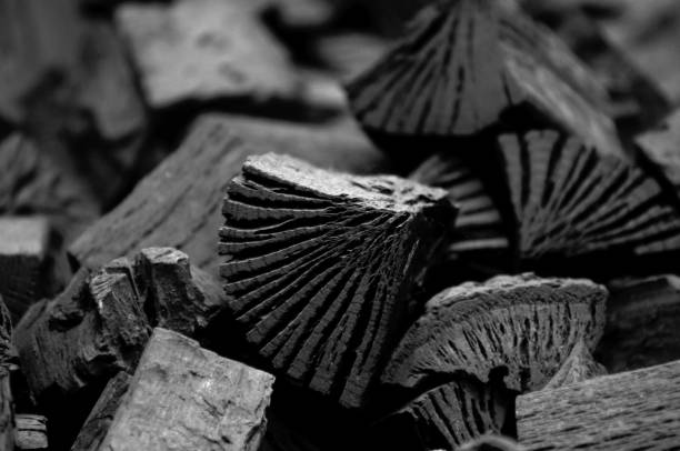 wood coal background - charcoal drawing stock photos and pictures