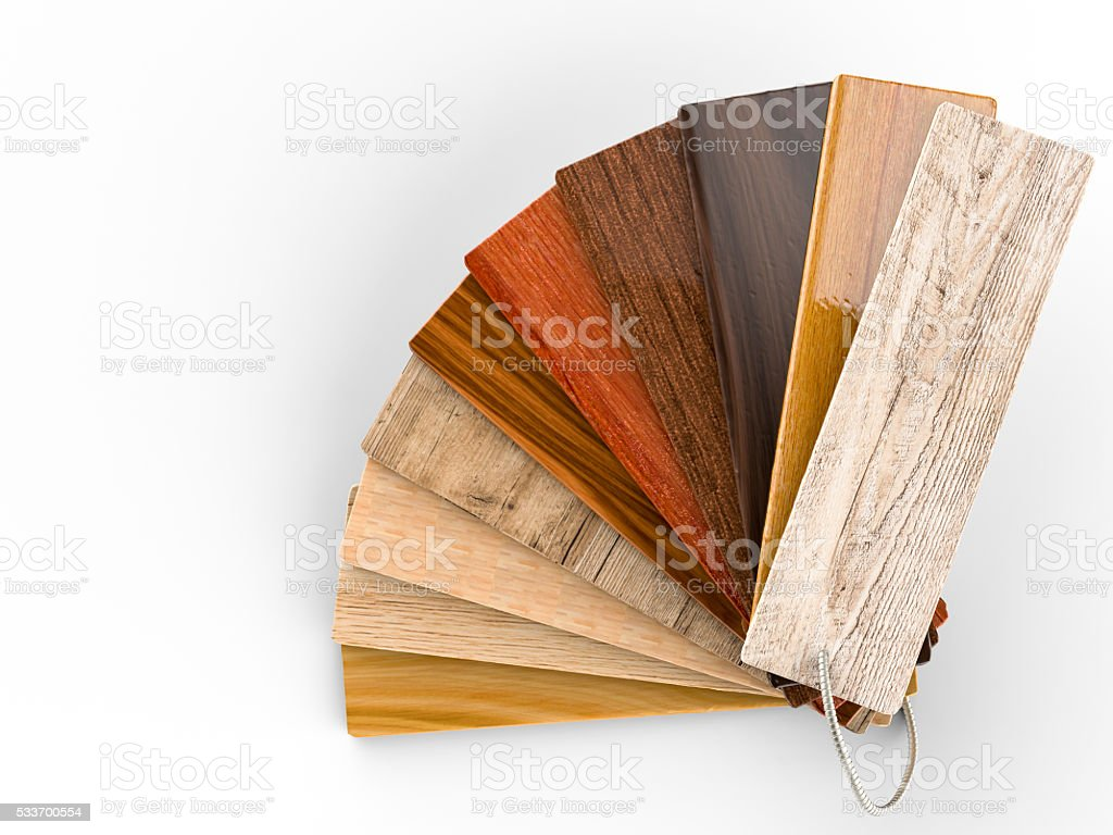 wood color guide stock photo