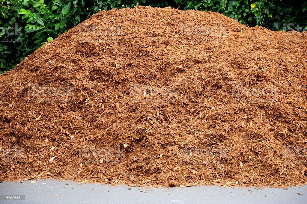 Wood compost. stock photo