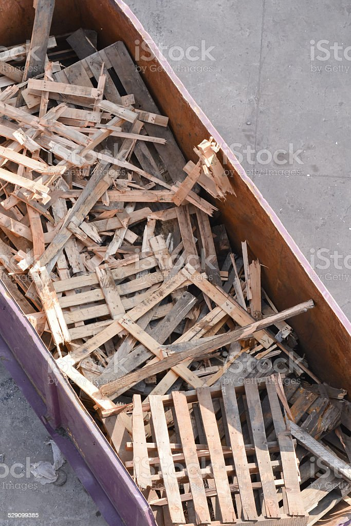 Wood container stock photo