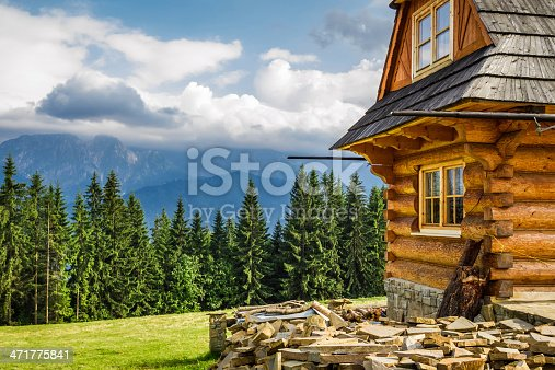 Rural cottage in the mountains.