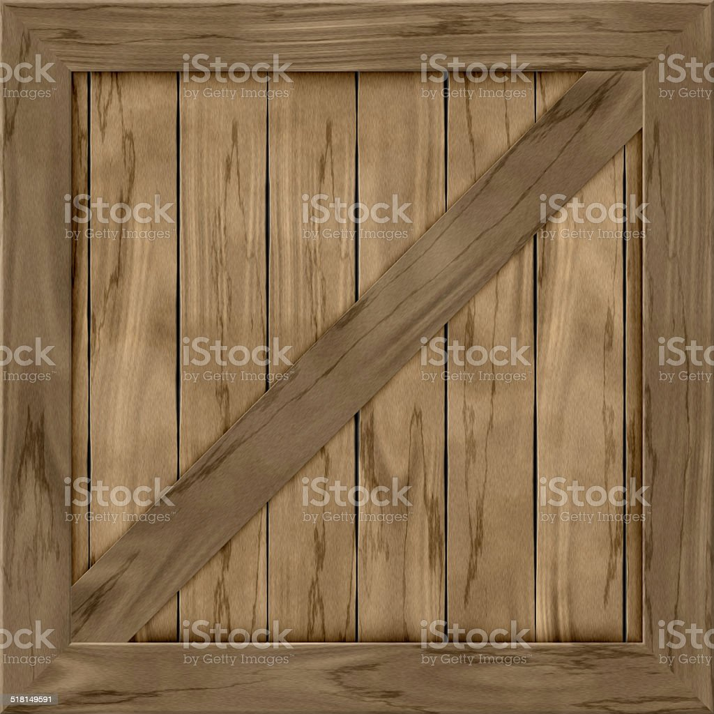 Wood crate generated hires texture stock photo