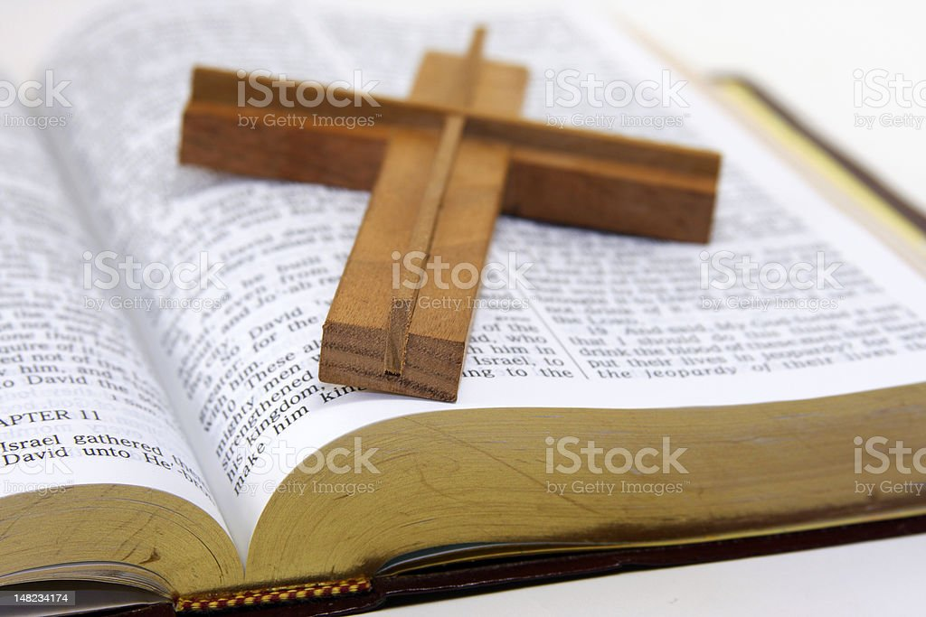 Wood Cross royalty-free stock photo
