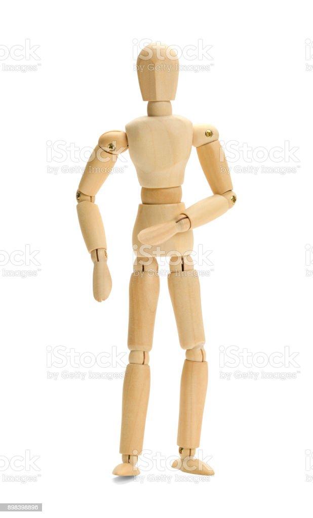 Wood Doll stock photo