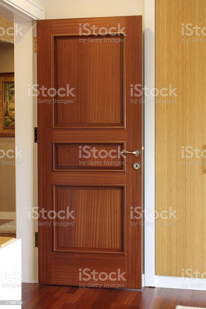 Wood door royalty-free stock photo