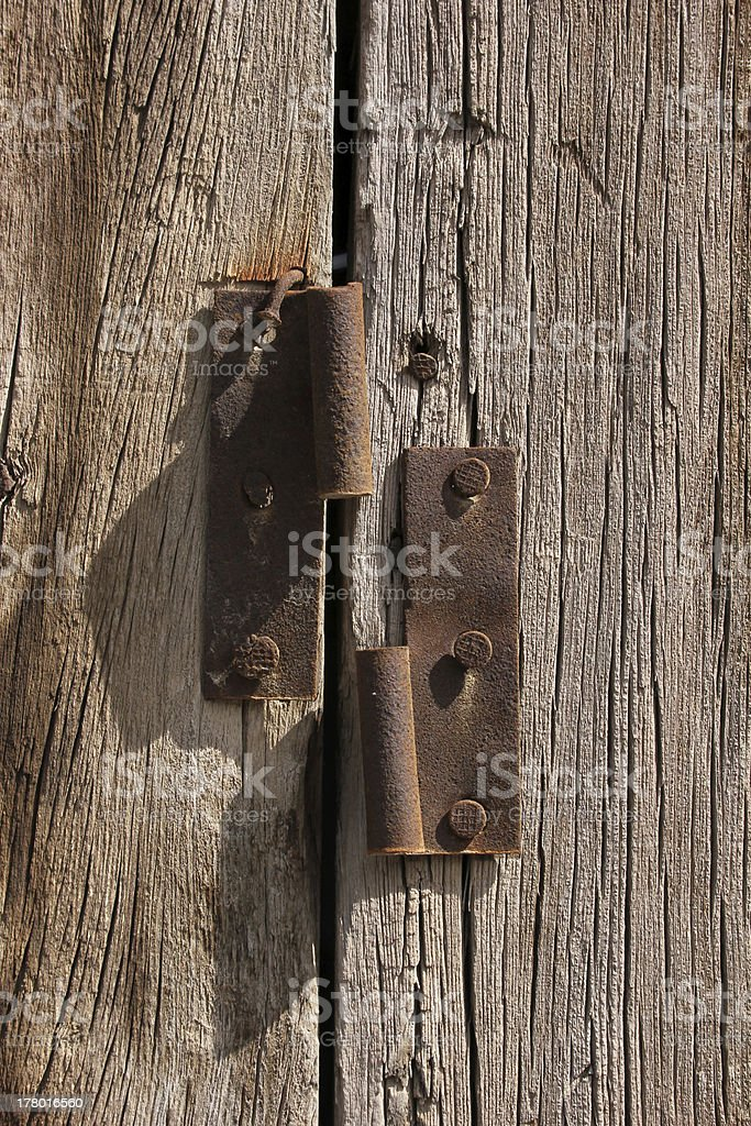 Wood door royalty-free stock photo