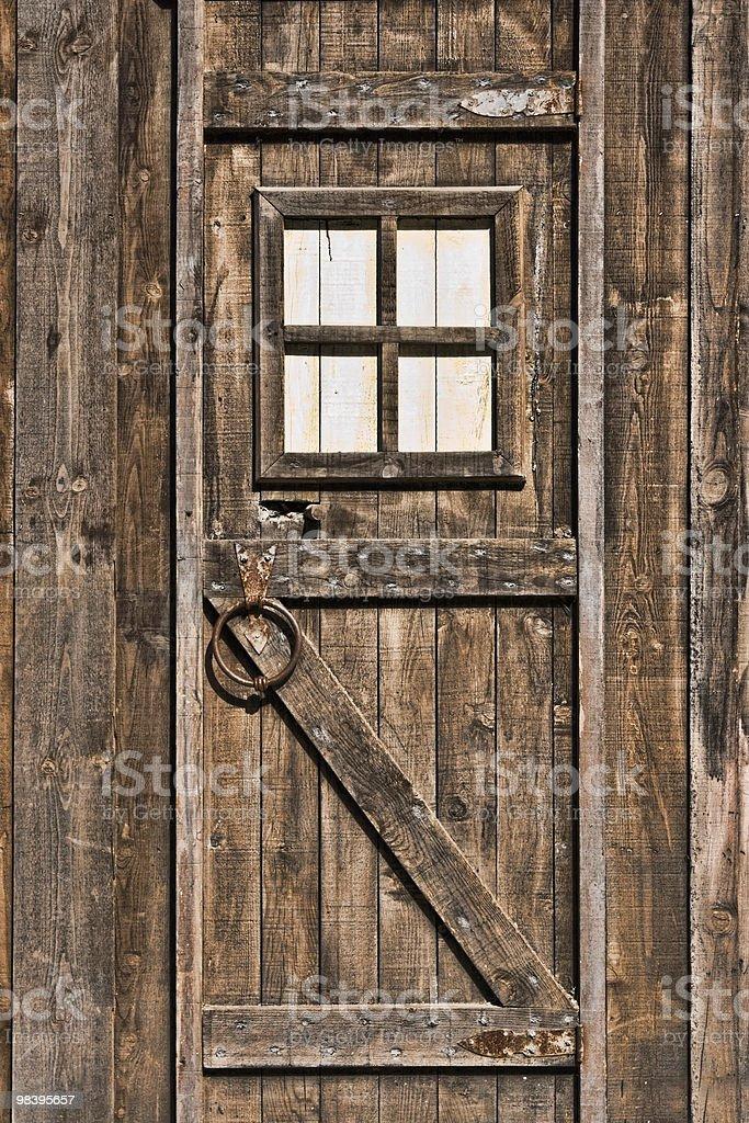 Porta de Madeira - fotografia de stock