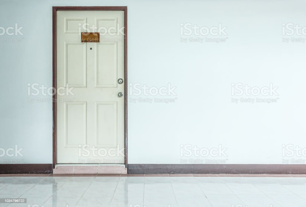 wood door white room interior apartment background