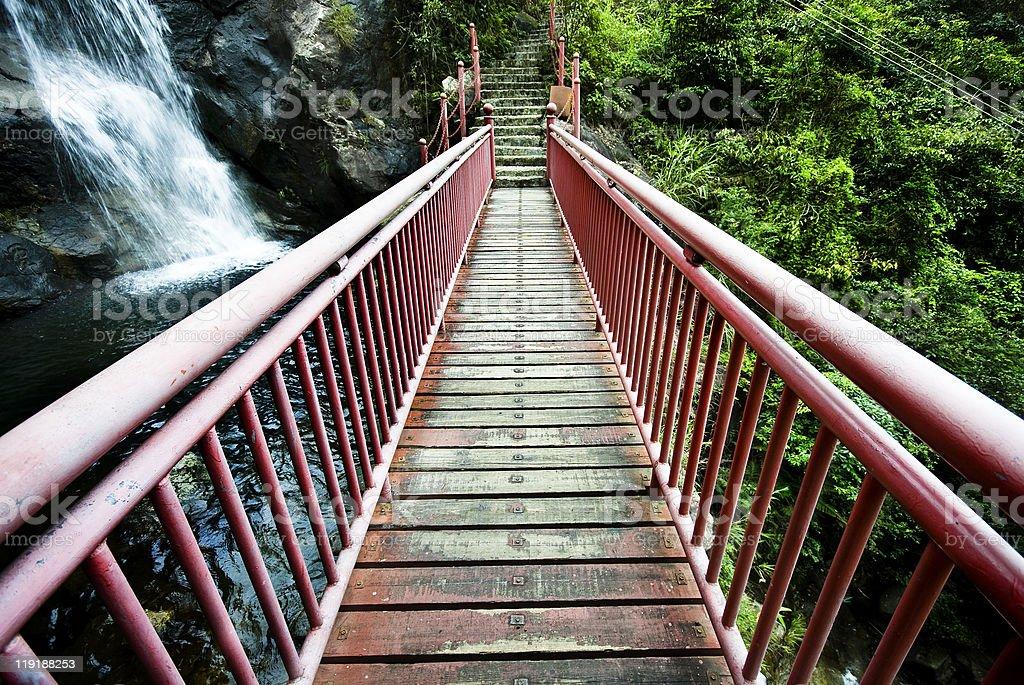 wood drawbridge in hong kong at summer royalty-free stock photo