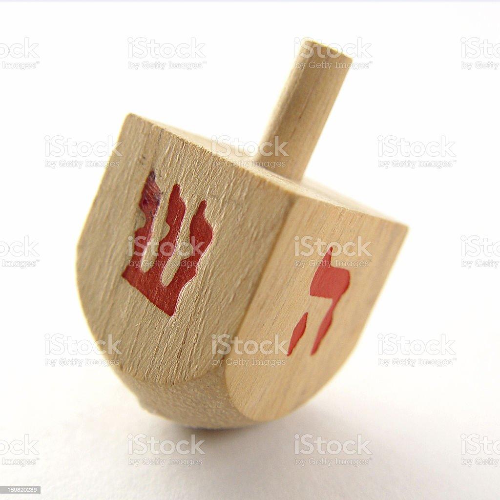 Wood Dreidel royalty-free stock photo