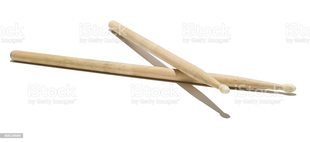 Wood Drumsticks royalty-free stock photo