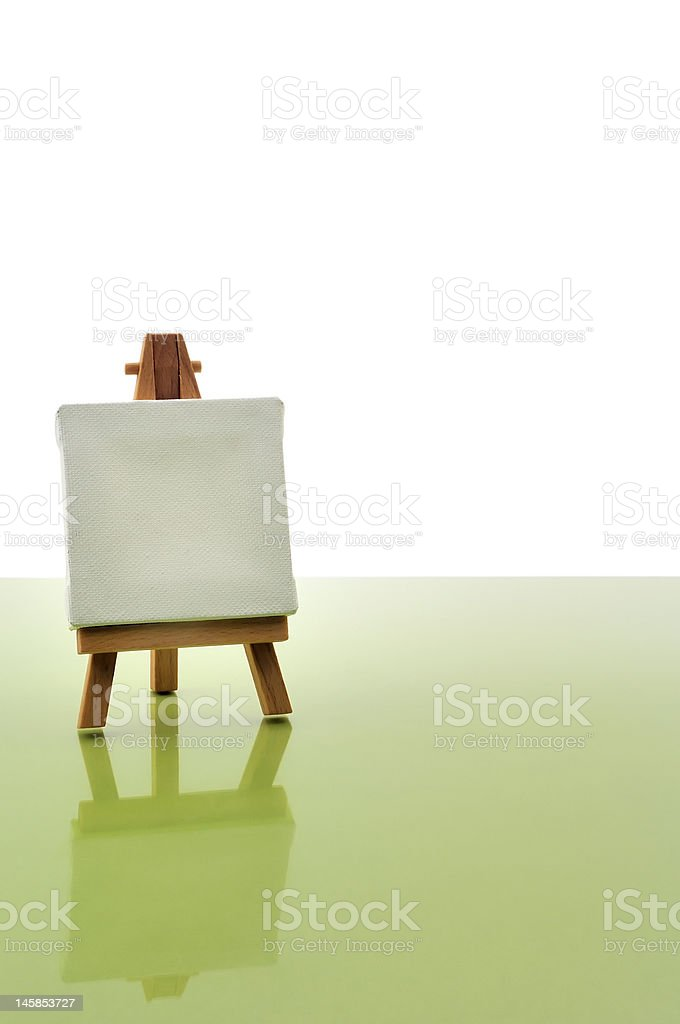Wood easel royalty-free stock photo