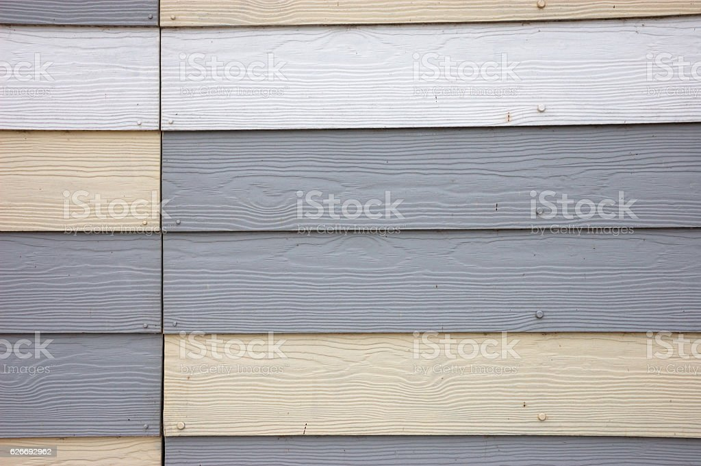 Wood Effect Textured PVC Cladding stock photo