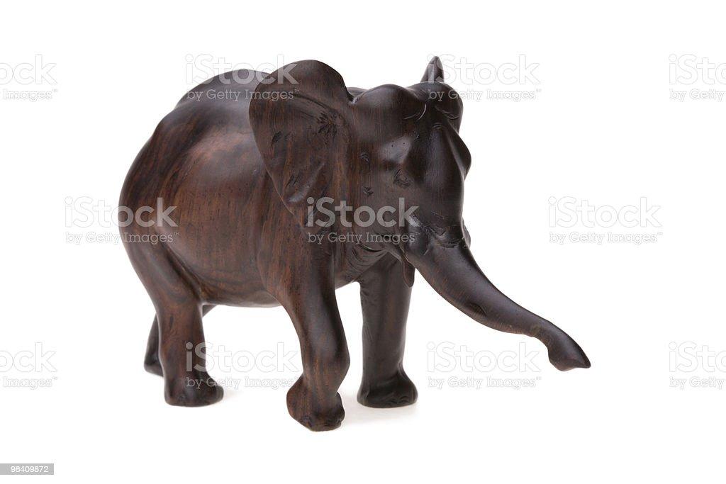 목재 코끼리 royalty-free 스톡 사진