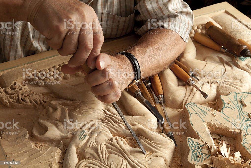 wood engraving stock photo