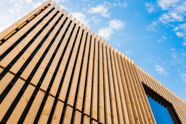 Wood Facade - Modern Architecture stock photo