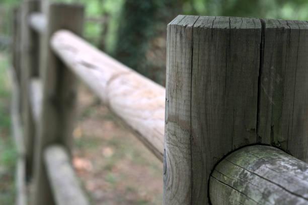 cerca de madera en primer plano - foto de stock