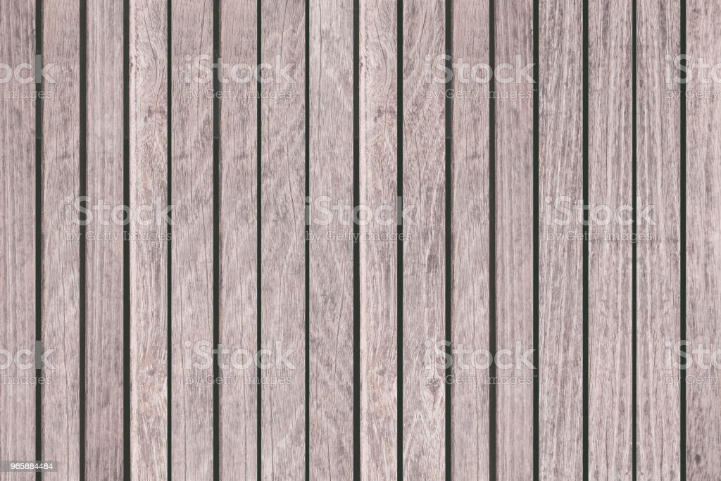 Houten hek of houten muur achtergrond naadloze en patroon - Royalty-free Bruin Stockfoto