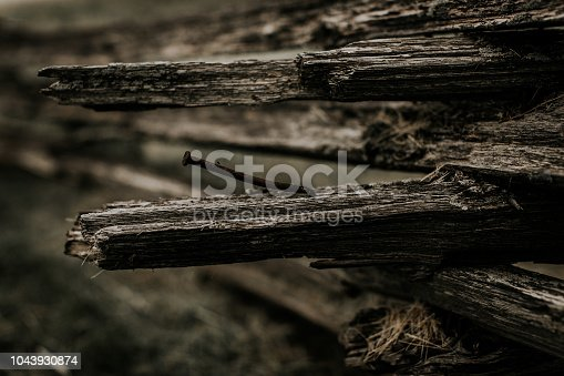 Old, Antique fence on barn property
