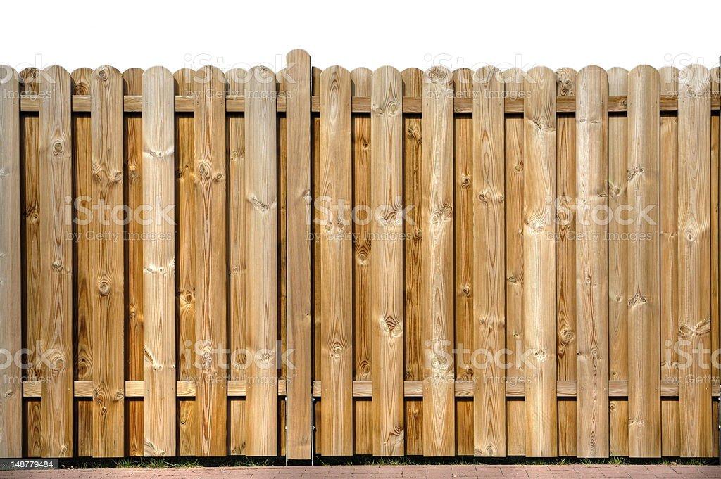wood fence stock photo